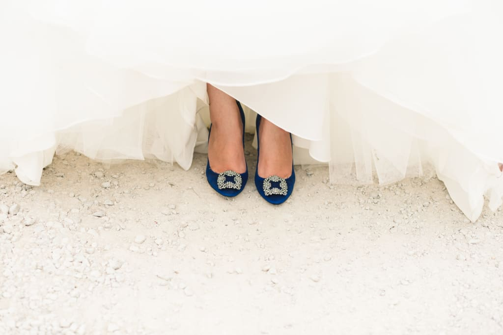 """Creative Ways to Wear Your """"Something Blue"""""""