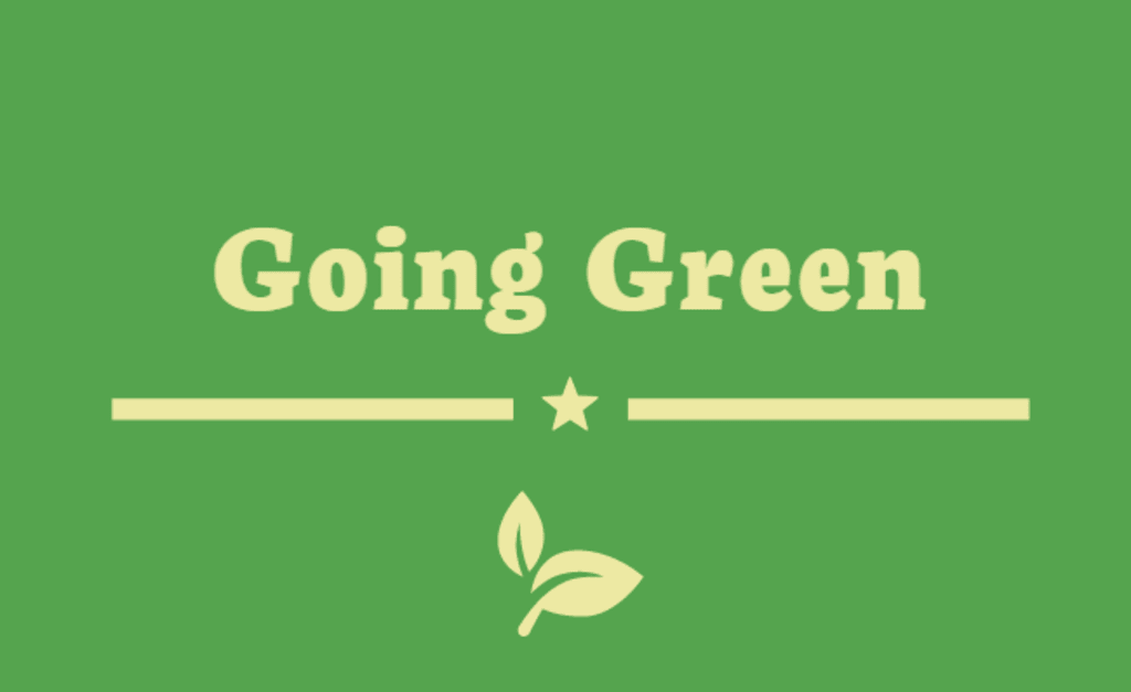 How I Plan on Going Green in 2020