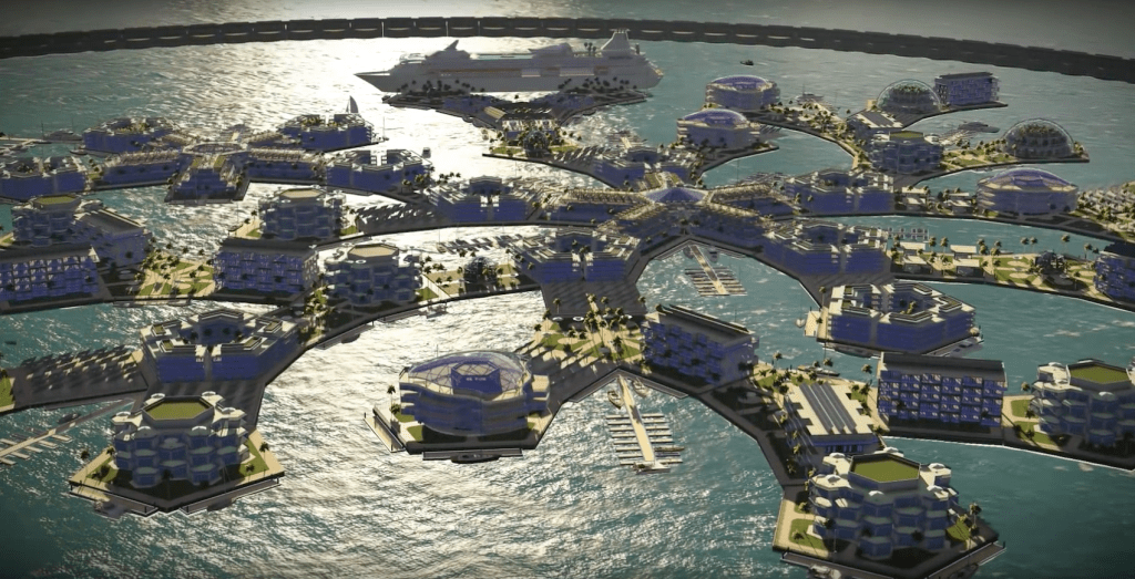 Floating Colonies in the Deep Blue Sea