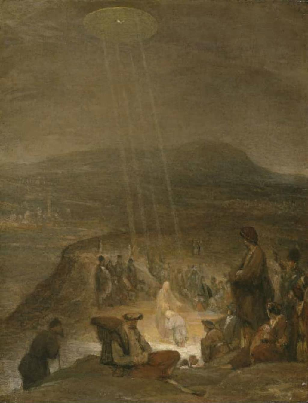UFO 'Baptizes' Jesus Christ in 18th Century Painting