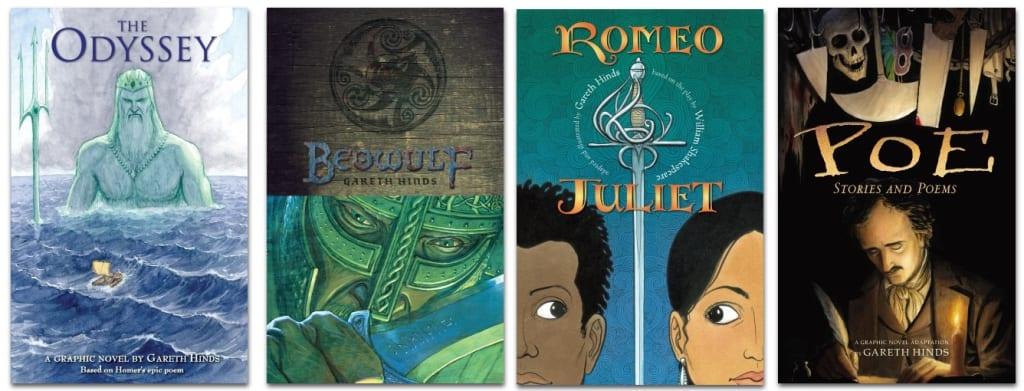 Graphic Novel Adaptations by Gareth Hinds and Candlewick Press