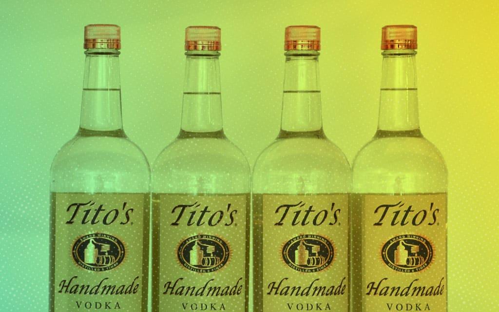 Titos Vodka Shaker Pint Glass Set