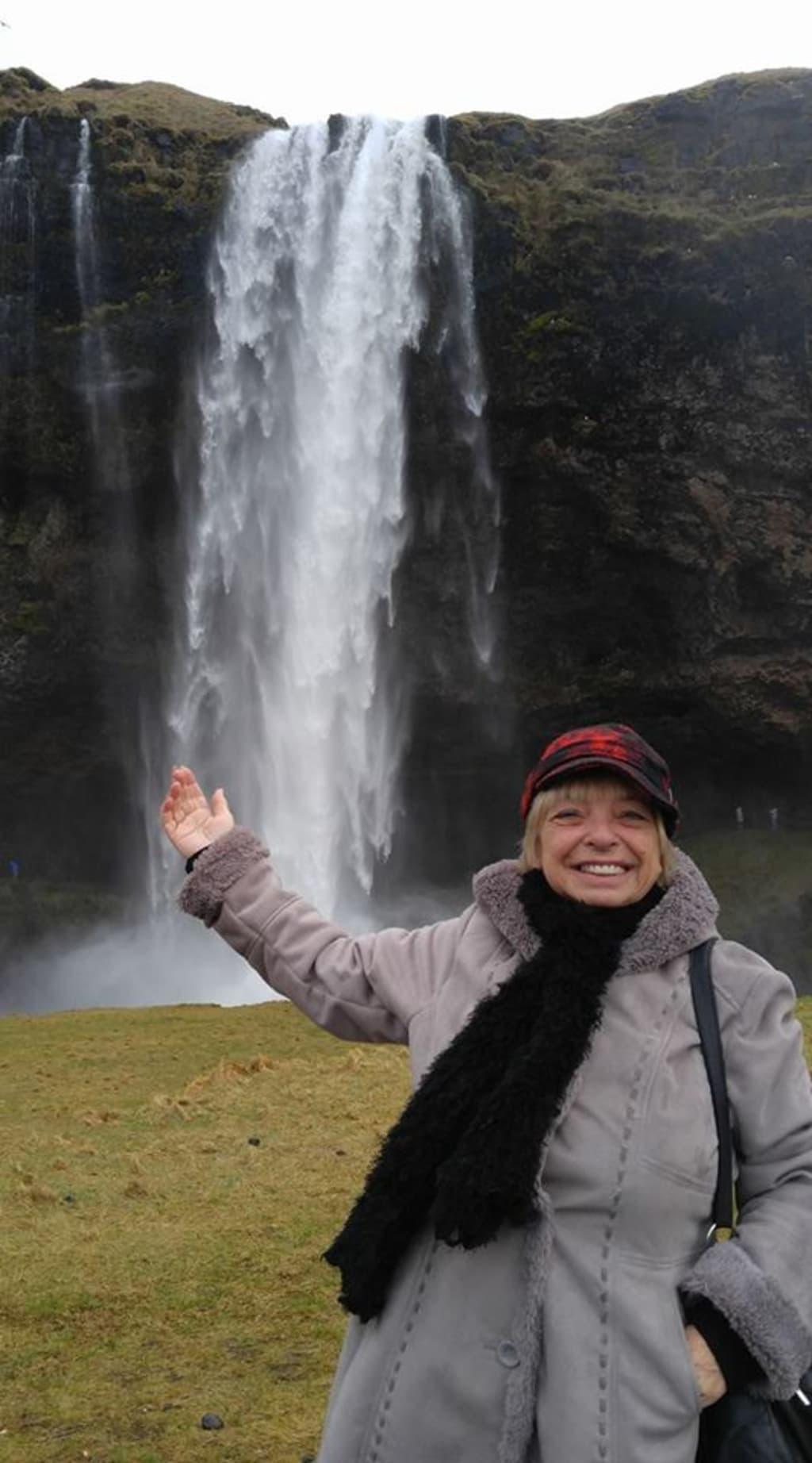 Senior Single Female Alone in Iceland