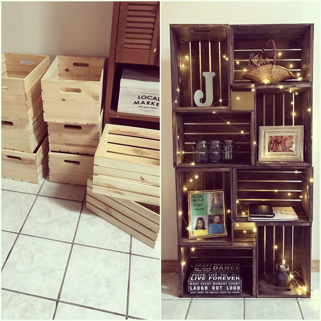 Diy Crate Bookshelf