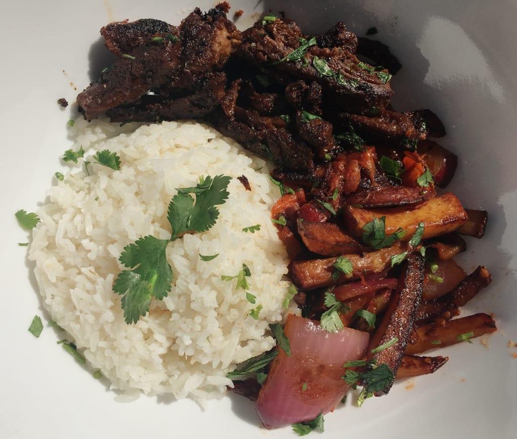Vegan Peruvian Lomo Saltado Recipe
