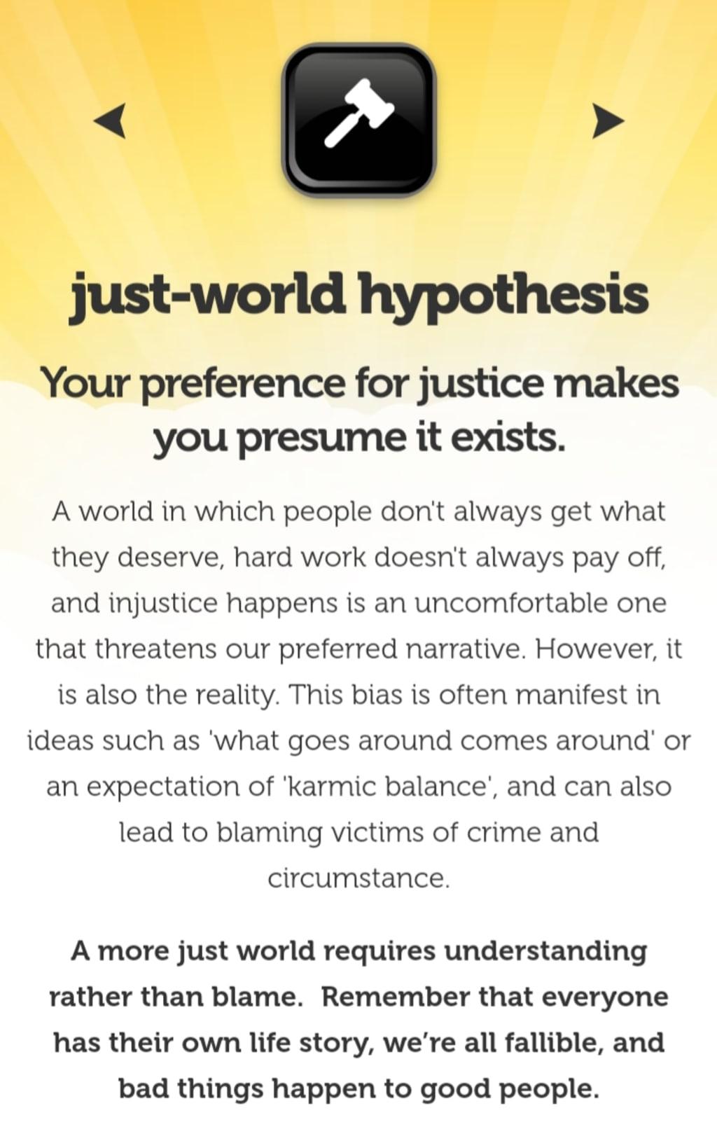 Just-World Hypothesis: Conservatism's Fantasyland