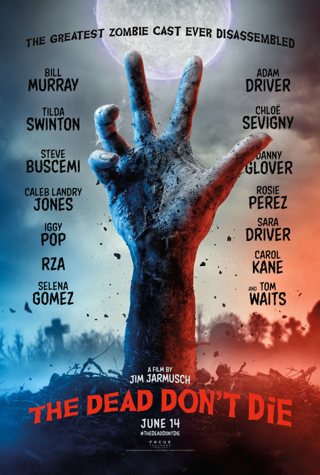 Movie Review: 'The Dead Don't Die' Fumbles as Zombie Satire