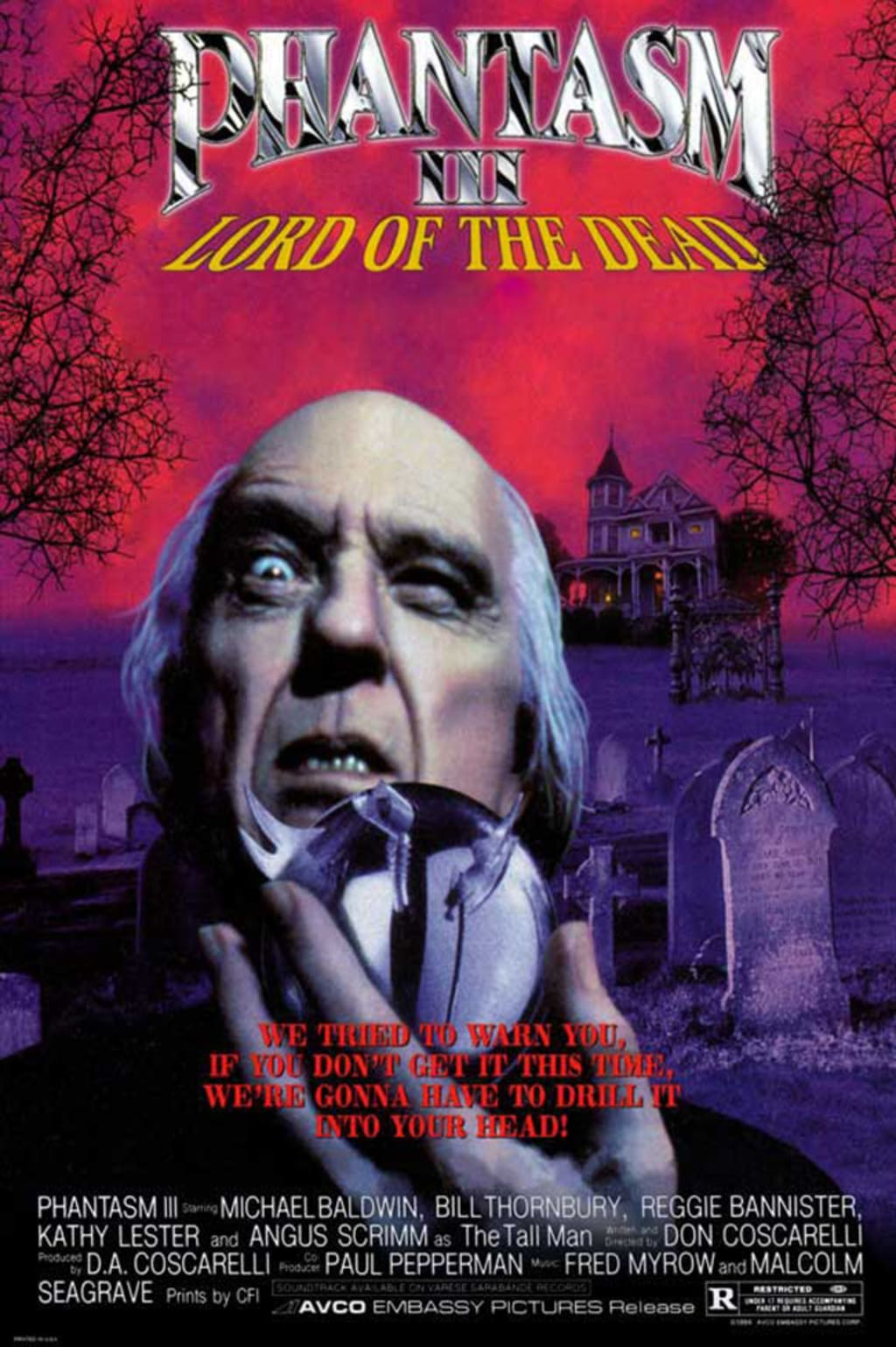 Reed Alexander's Horror Review of 'Phantasm III: Lord of the Dead' (1994)