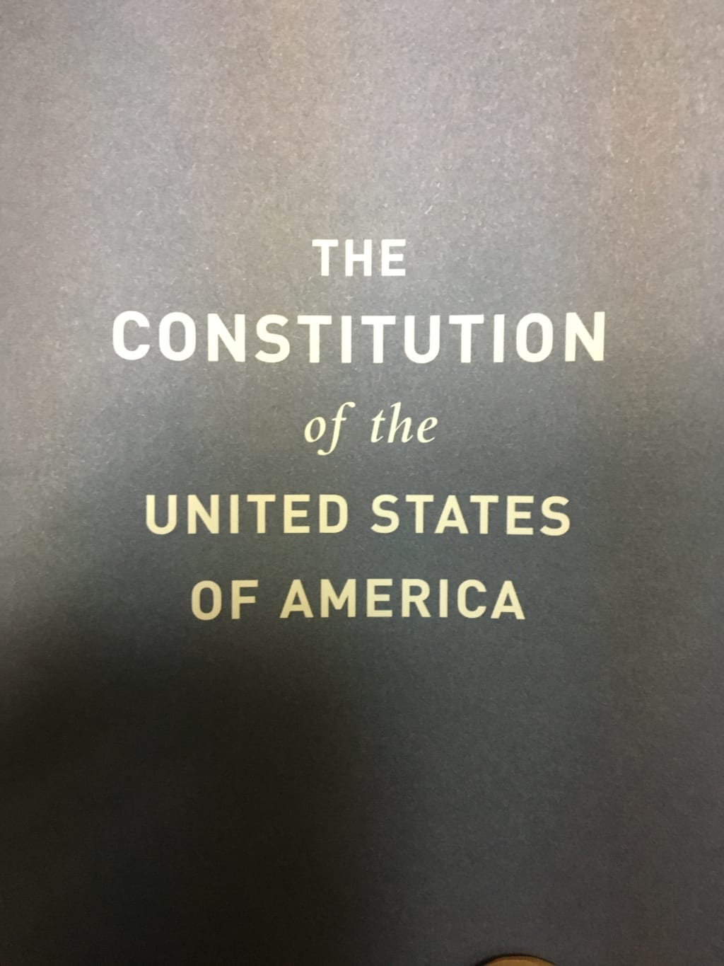 One Problem With the Constitution