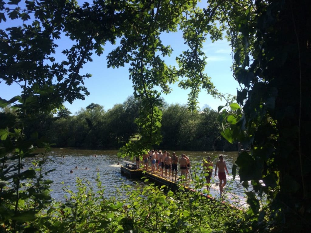 Diving Into the Swimming Ponds of Hampstead Heath in London