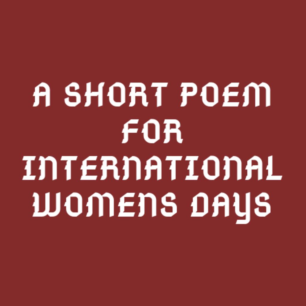 International Women's Day Poem