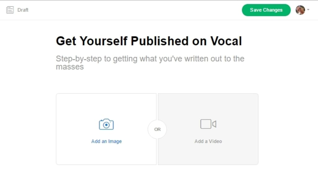 Get Yourself Published on Vocal