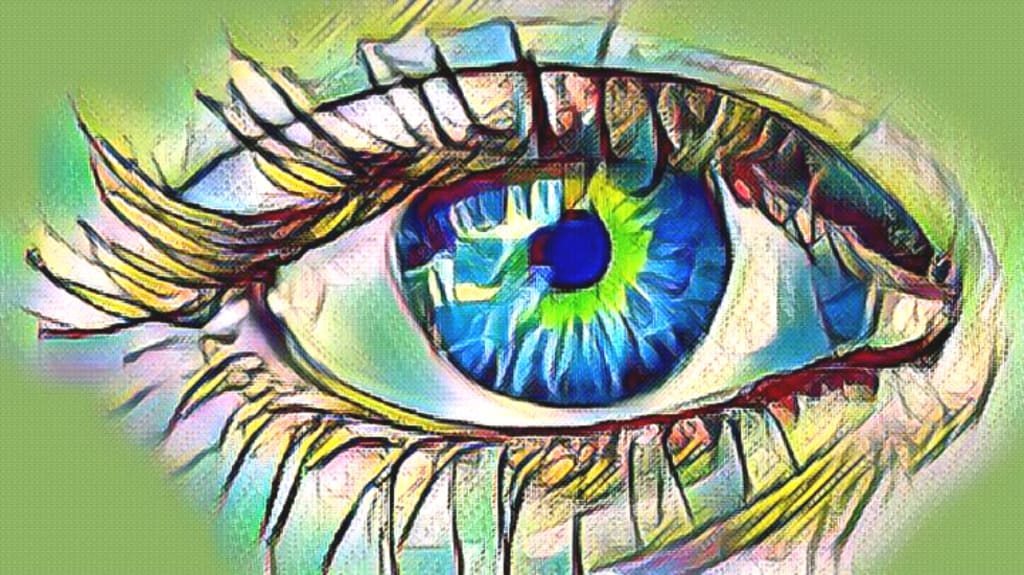 One Green Eye and One Blue Eye
