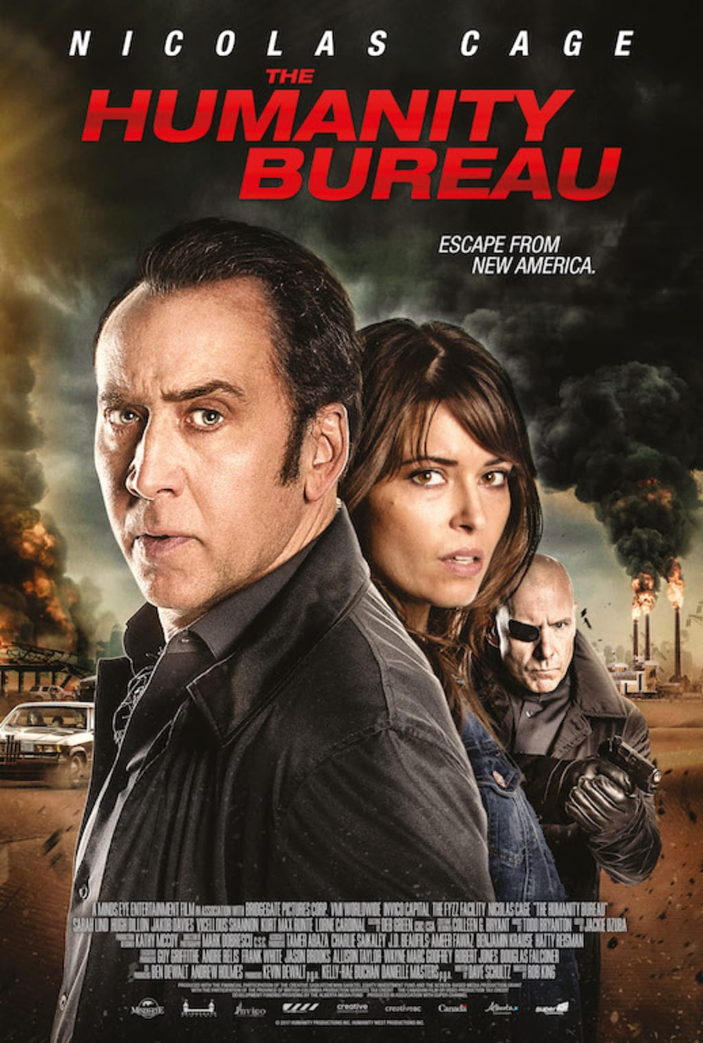 Film Review: 'The Humanity Bureau' Arrives in Select Theaters and VOD and Nicolas Cage's Character Is Barely Bonkers in It