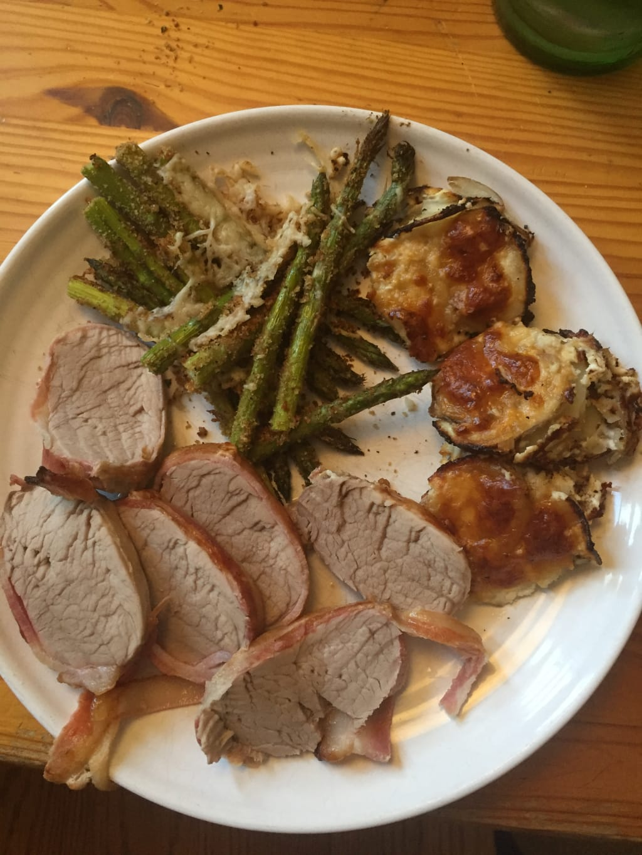 Just Grubbin Series: Cooking with Walker, Pt. 1- Pork Tenderloin Wrapped in Bacon
