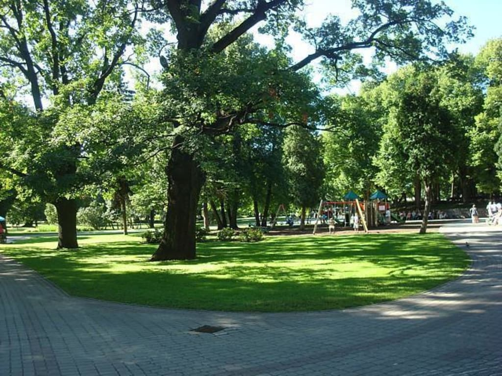 Strolling in the Parks of Riga