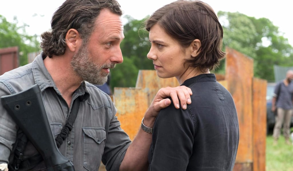 Scott Gimple Teases Fate of Maggie's Baby in Season 8 of The Walking Dead.