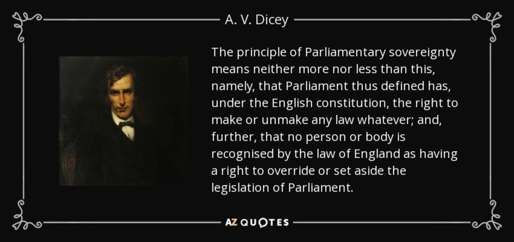 Dicey's Parliament in the 21st Century