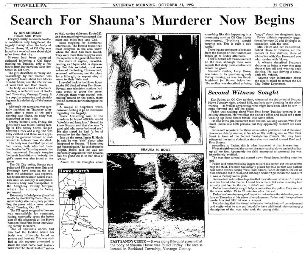 Cold Cases #1: Shauna Howe