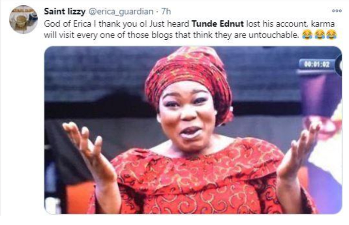 Tunde Ednut Finally Speaks Out Following Instagram Account Shutdown Ronkus, check this instagram link and knock yourself out with laughter, was the message i received on i visited the link, laughed so hard, surfed the page, loved what i saw and, i pressed i am not so much into instagram, the packaged and mostly filtered shenanigans, however, tunde ednut came. tunde ednut finally speaks out