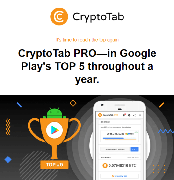 Earn Free Bitcoins With The CryptoTab Browser
