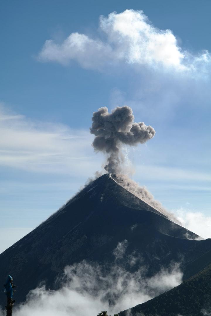 errupting volcano in Guatemala