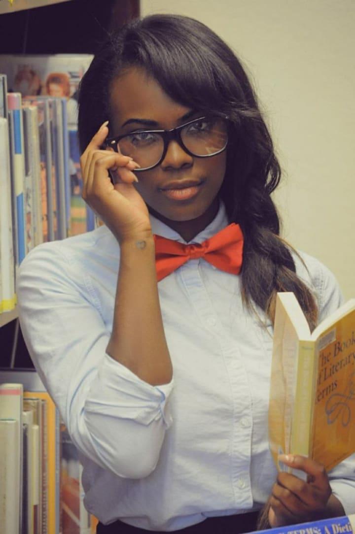 nerdy white girl