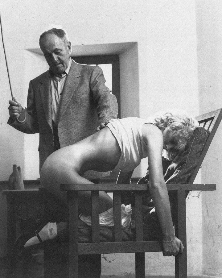 Large wife spanks me