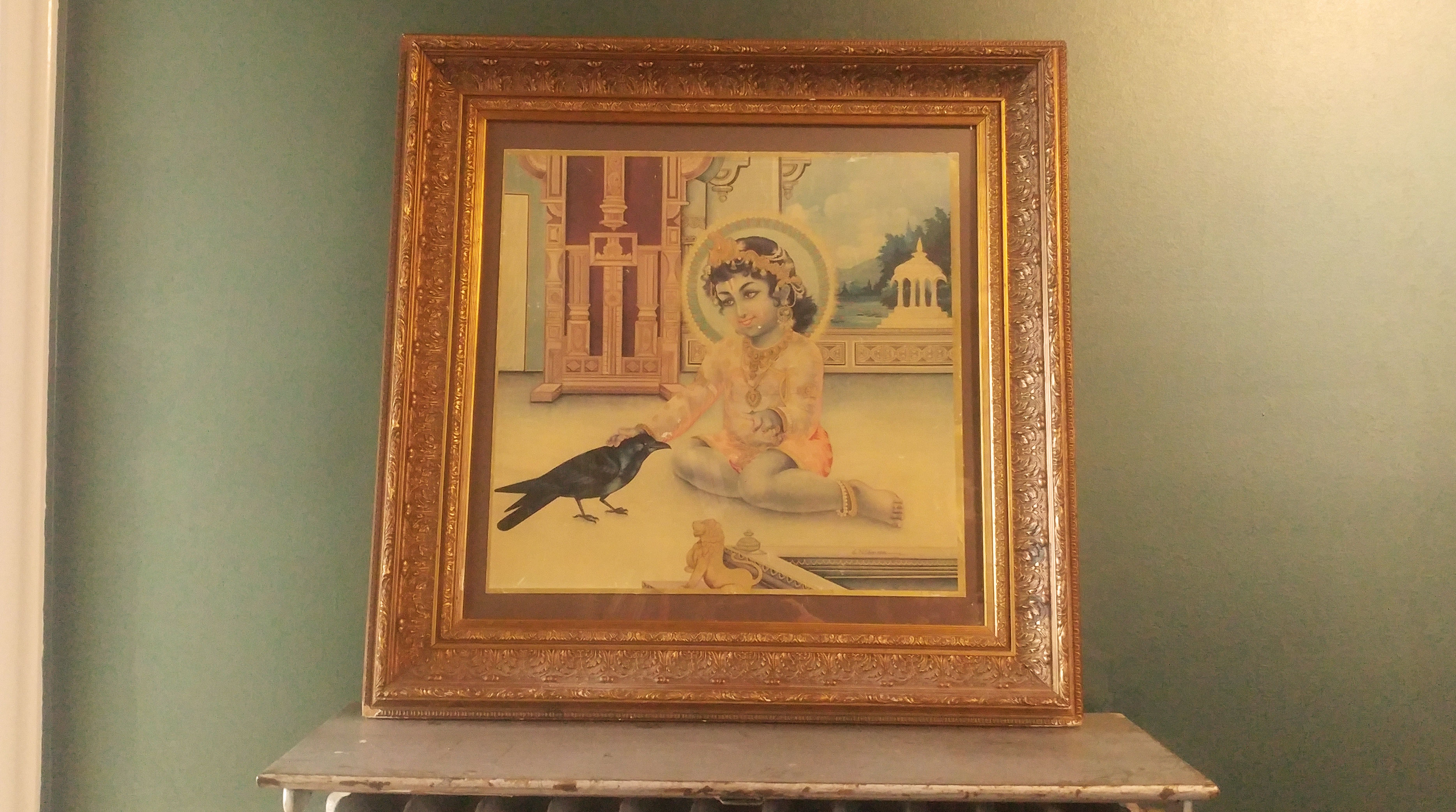 Thrifting Abroad: Finding a Krishna and Crow Print