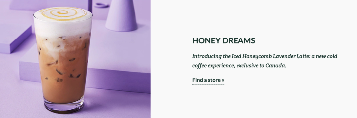 Starbucks\' New Iced Honeycomb Lavender Latte Is Only ...