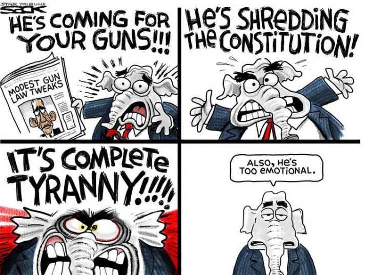 Impactful Political Cartoons About Gun Control