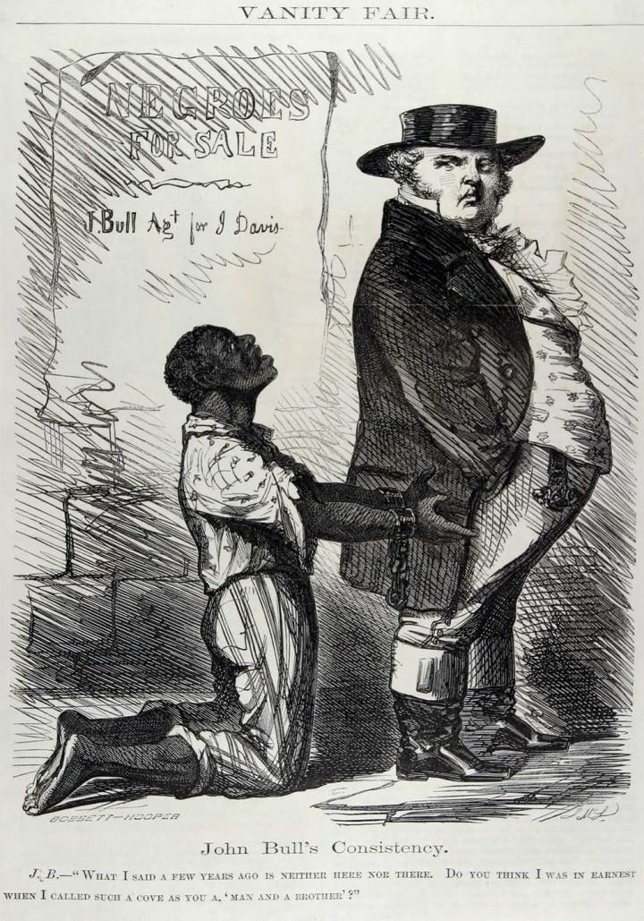 Civil war political cartoons slaves