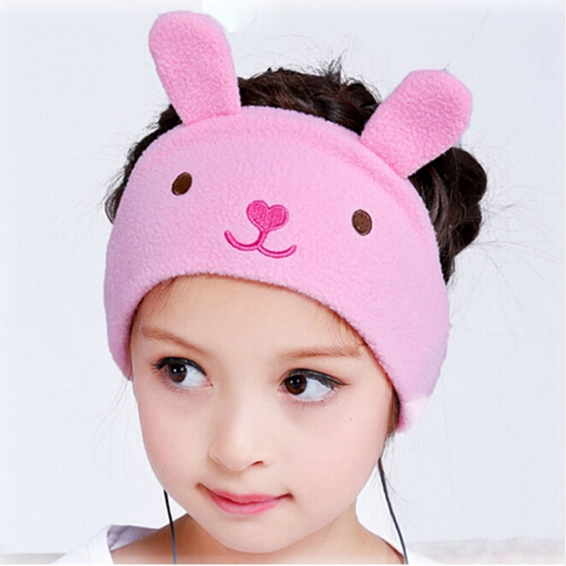 c259f7874f9 Kids Headband Headphones cartoon earphone Soft Fleece Headbands ...