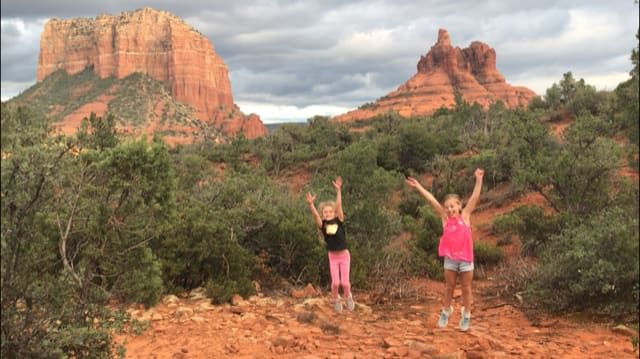 photo of girls hiking in Sedona