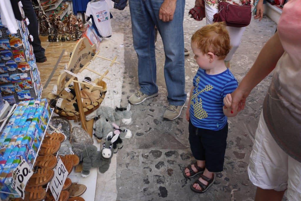 Shopping in Santorini
