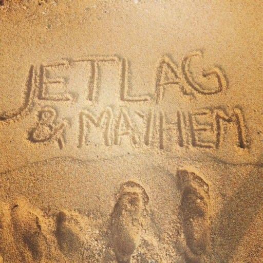 Jetlag & Mayhem Logo in Sand