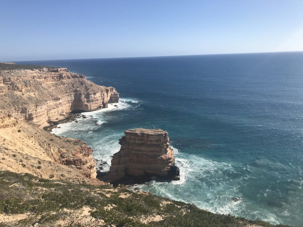photo of kalbarri cliffs