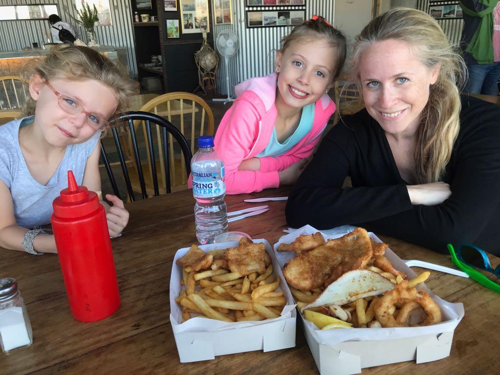 picture of fish and chips in Bicheno Tasmania