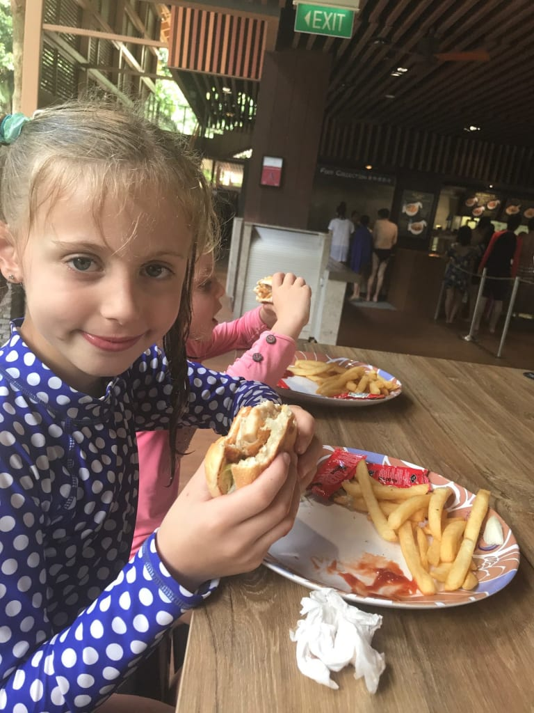 lunch at Adventure Cove