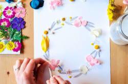 jeu-de-mains-Illustration fleurie