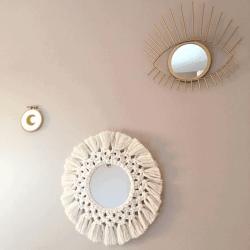 jeu-de-mains-Miroir Macramé 20 cm