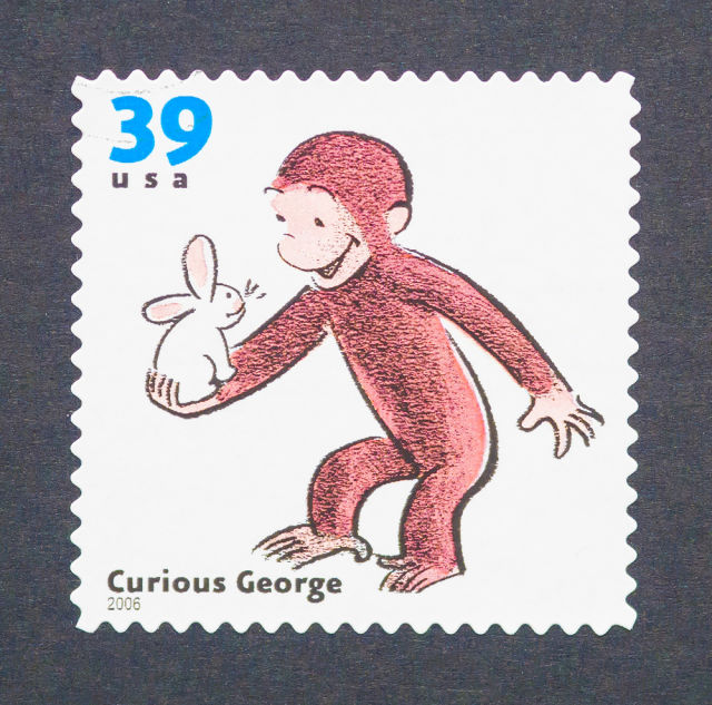 Jis 0417 curious george stamp swiye0