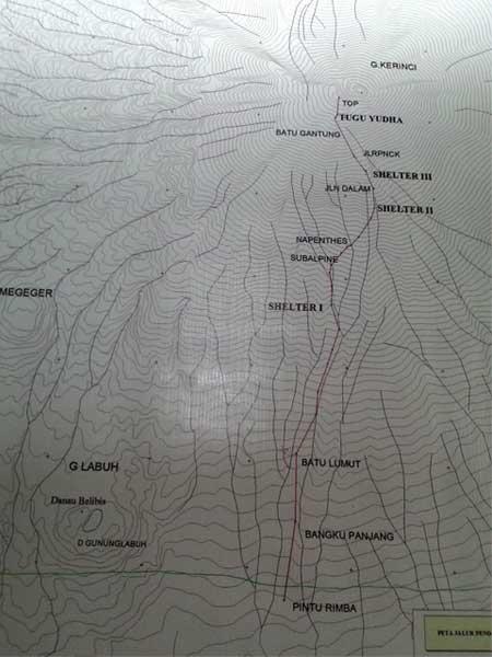 rute puncak gunung kerinci