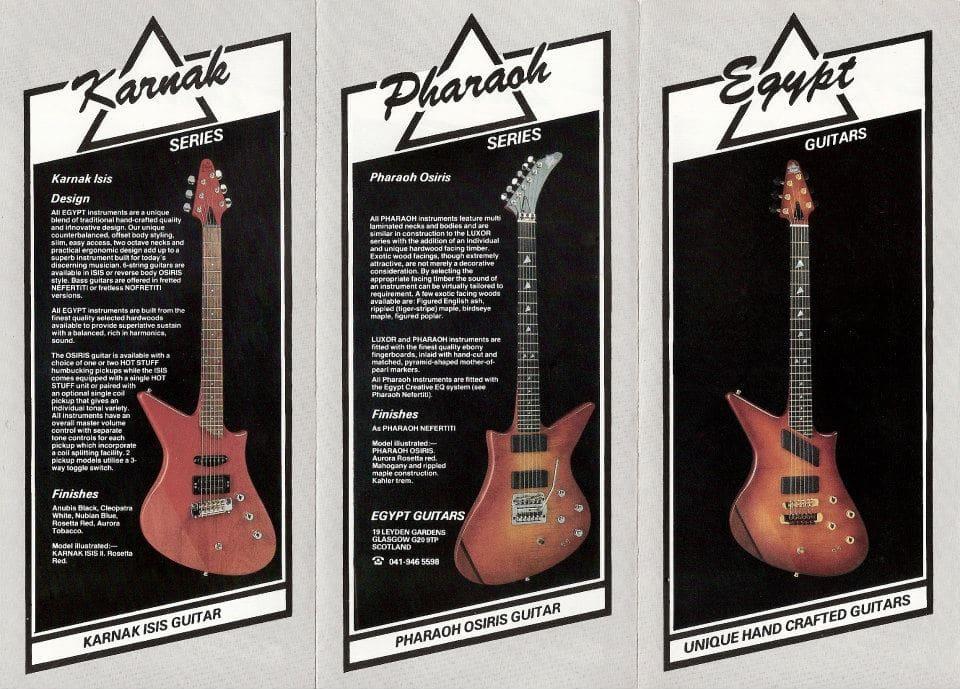 catalogue guitars