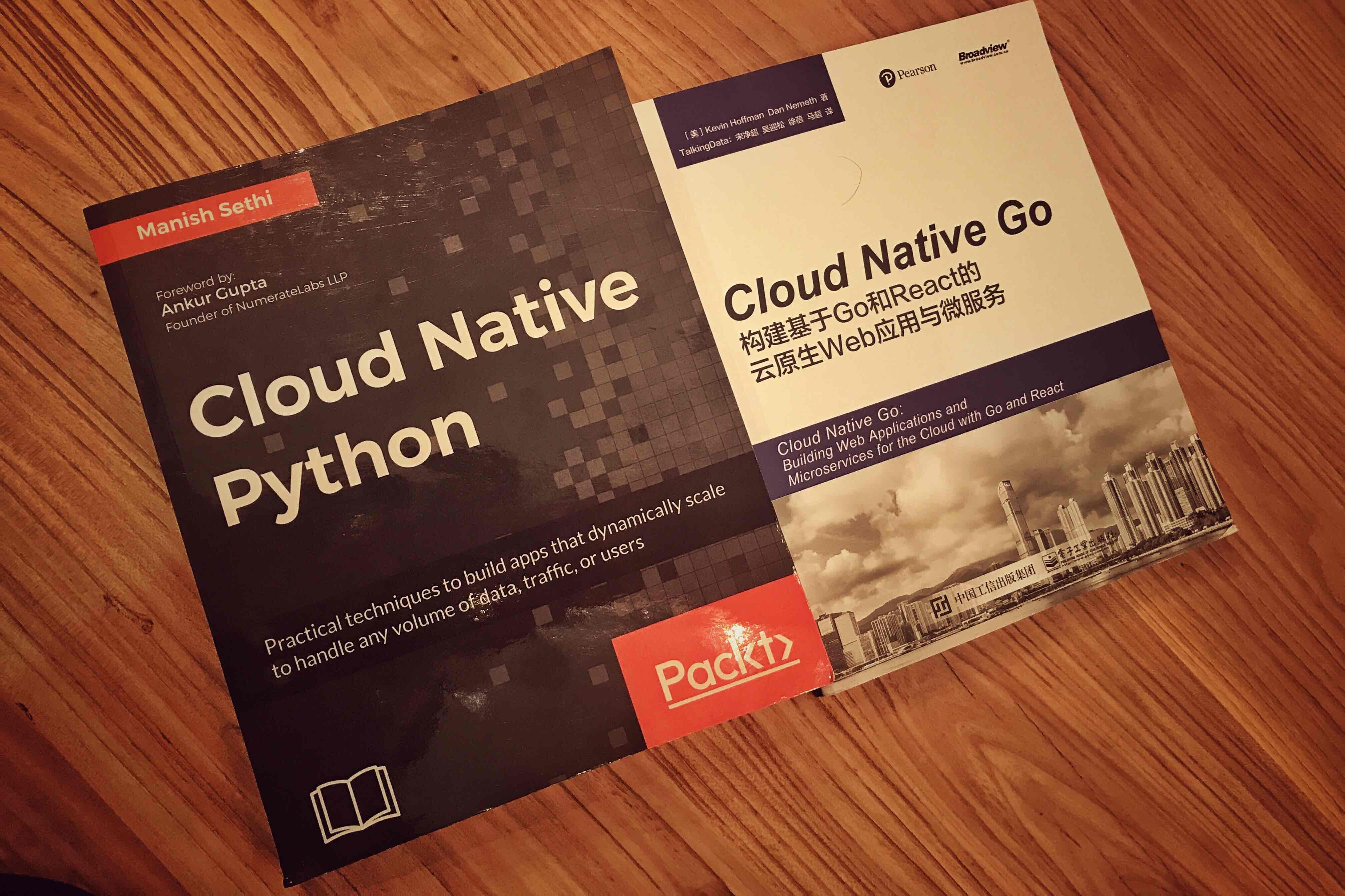Cloud Native Python 和 Cloud Native Go 合影