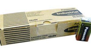 PANASONIC INDUSTRIAL ALKALINE BATTERIES 9 VOLT BATTERY (12/batteries per carton) - PI-9V - 6LR61XWA/C