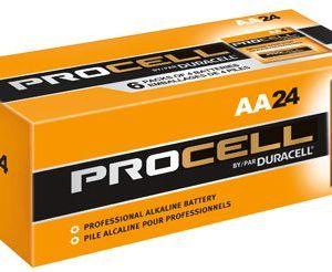 DURACELL PROCELL AA   ALKALINE BATTERY   24 BATTERIES/CARTON