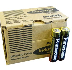 PANASONIC INDUSTRIAL ALKALINE BATTERIES AAA BATTERIES (24/batteries per carton) - PI-AAA- LR03XWA/C LR6