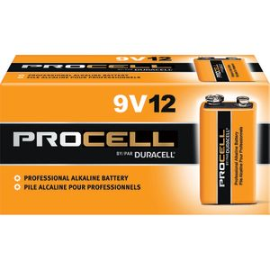 DURACELL PROCELL 9VOLT BATTERY - 12 BATTERIES/CARTON