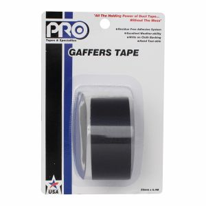 "PRO GAFF 2"" X 6YARDS POCKET TAPE - BLACK"
